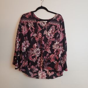 Lucky Brand Floral Pattern Top